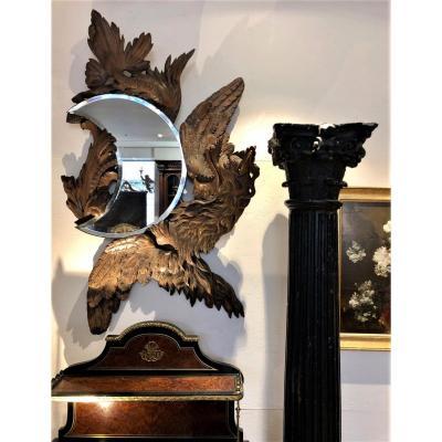 Grand Miroir Au Dragon 19eme