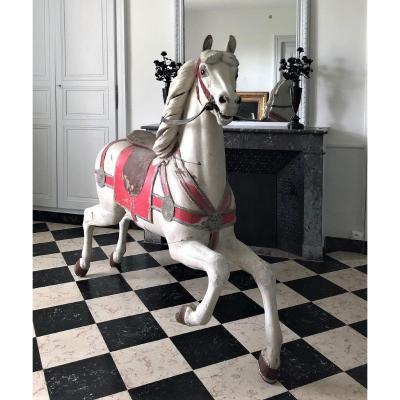 Spectaculaire Cheval De Manège 19eme