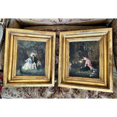 Pair Of 19th Century Paintings