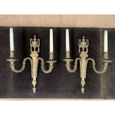 Pair Of Louis XVI Style Bronze Sconces