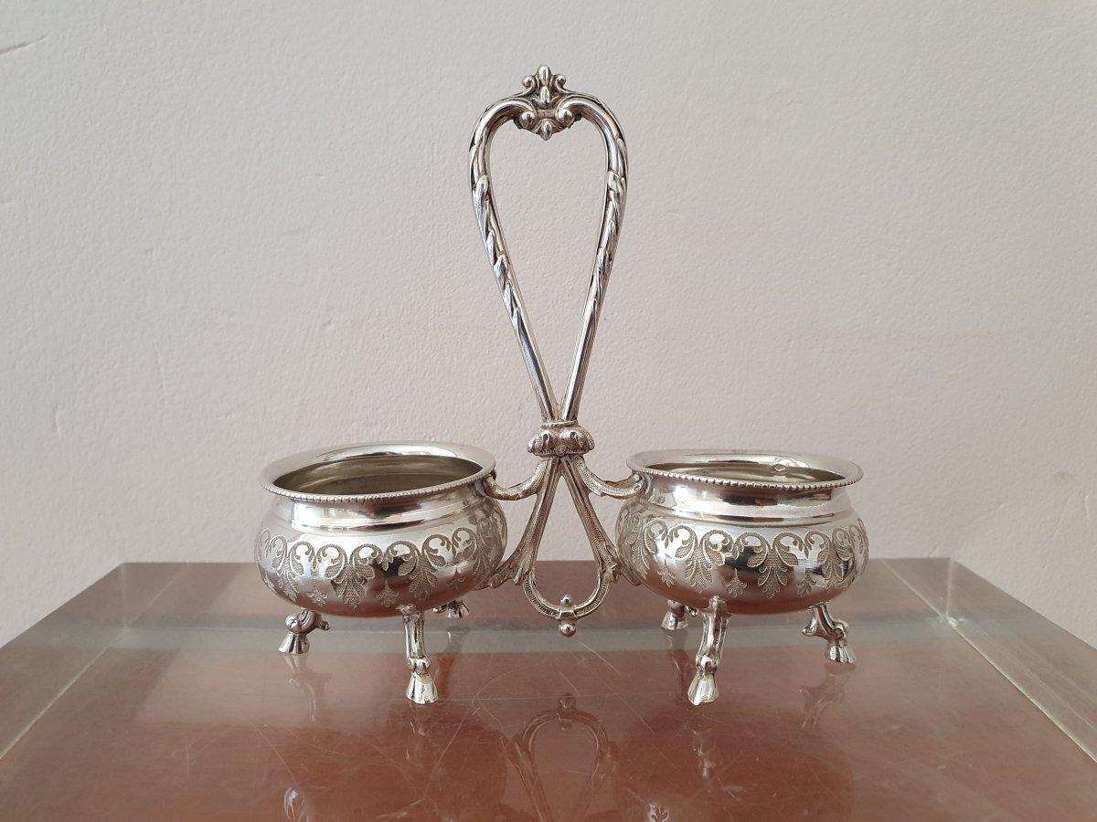 Roussel, Salt Shaker, Sterling Silver, Louis XVI, XIX.