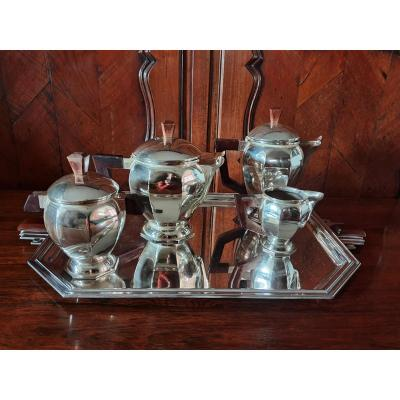Tea / Coffee Service, Silver Plated, Art Deco. XX °.