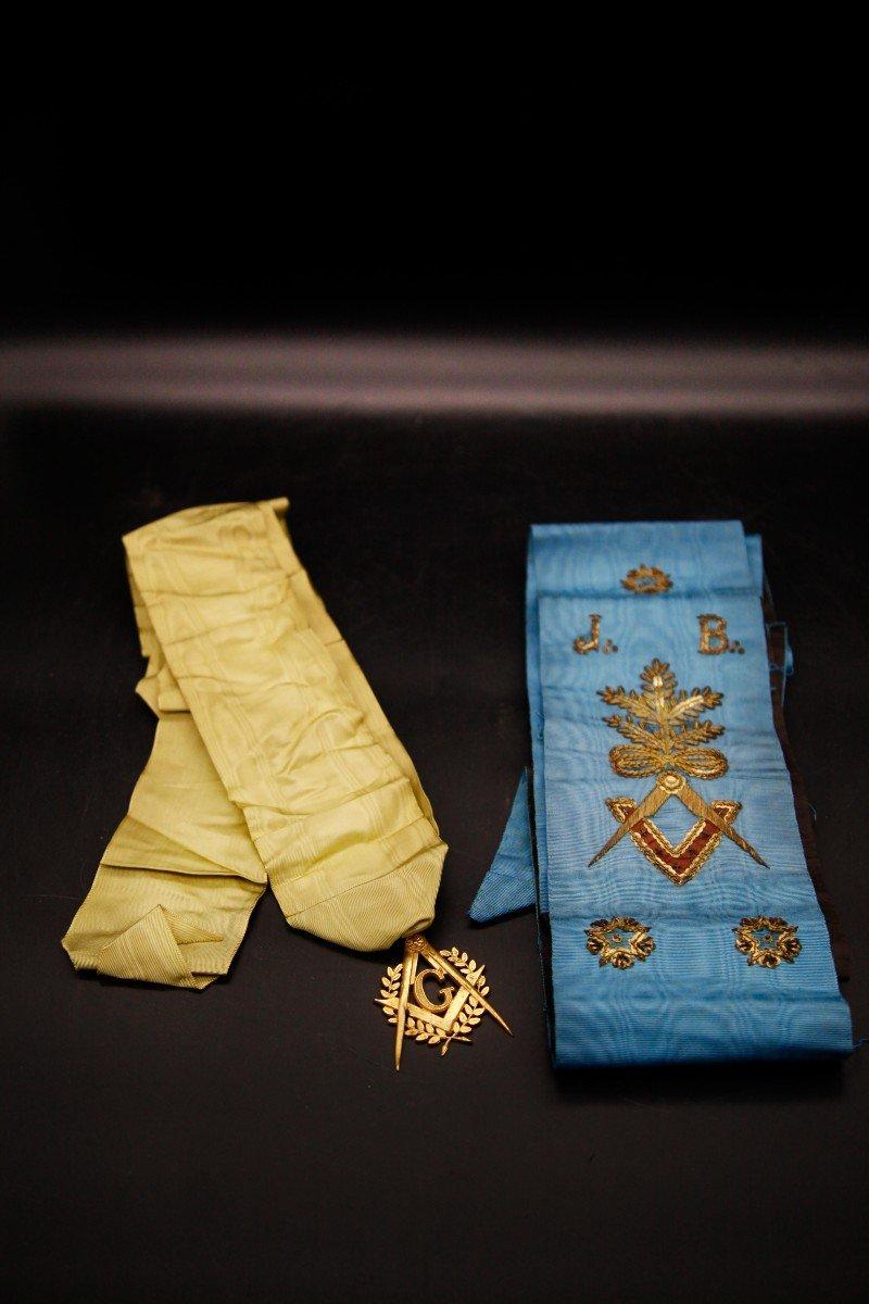 Écharpe Et Médaille - Franc Maçonnique