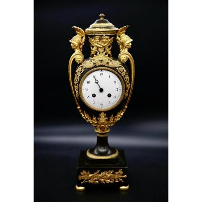 Empire Vase Clock With Two Patinas