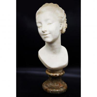 Bust In White Carrara Marble