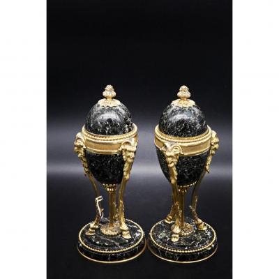 Paires De Cassolettes Bougeoirs Napoléon III
