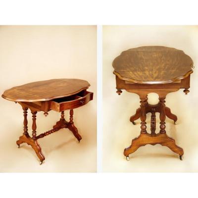 Petite Table De Salon de forme violonnée à Volet - Époque Napoléon III