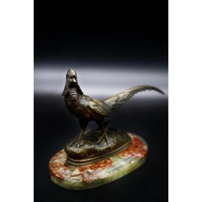 Bronze XIX - Venerated Pheasant On Base