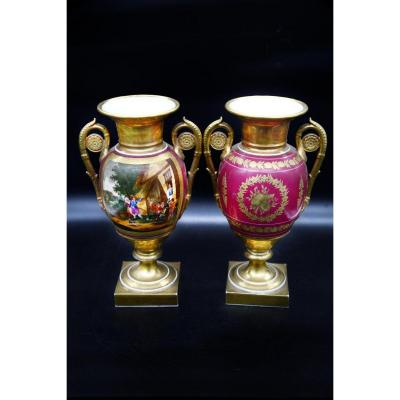 Pair Of Medecis Vases - Empire Period