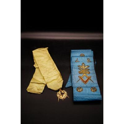 Scarf And Medal - Freemasonry