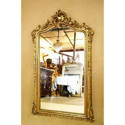 Miroir époque Napoléon III de style Louis XV