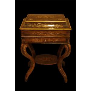 Table A Ouvrage, Travailleuse - Epoque Charles X
