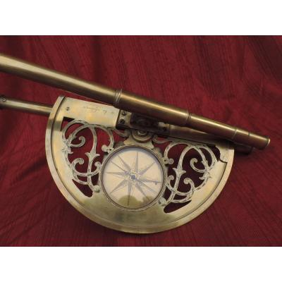 Double Glasses Graphometer, Signed, XVIII