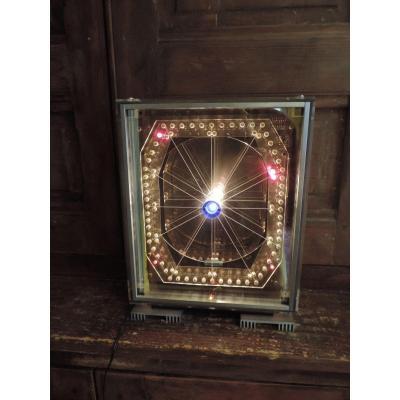 Pendule/ Sculpture  Lumineuse Par G. Haas .Chronotope.