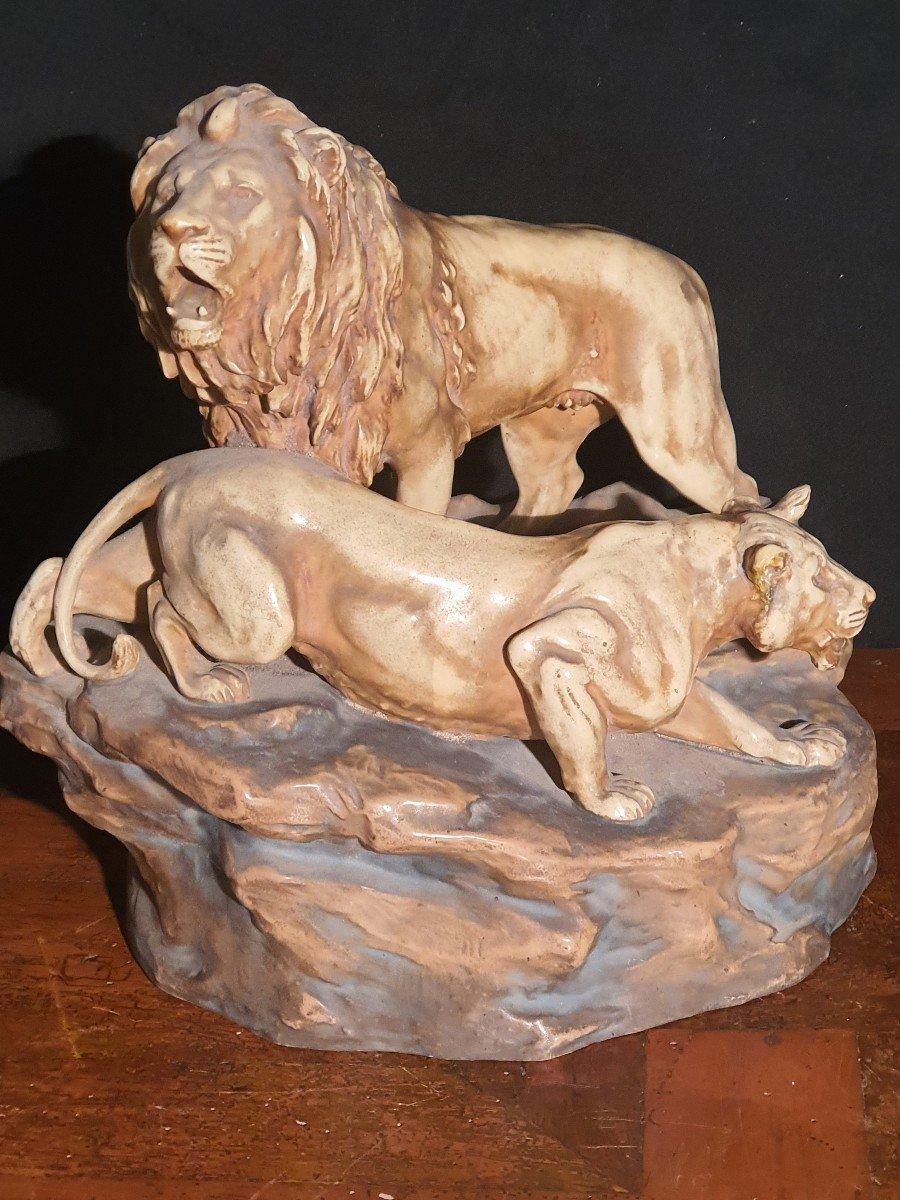 Royal Dux Sculptur Porcelain Group.