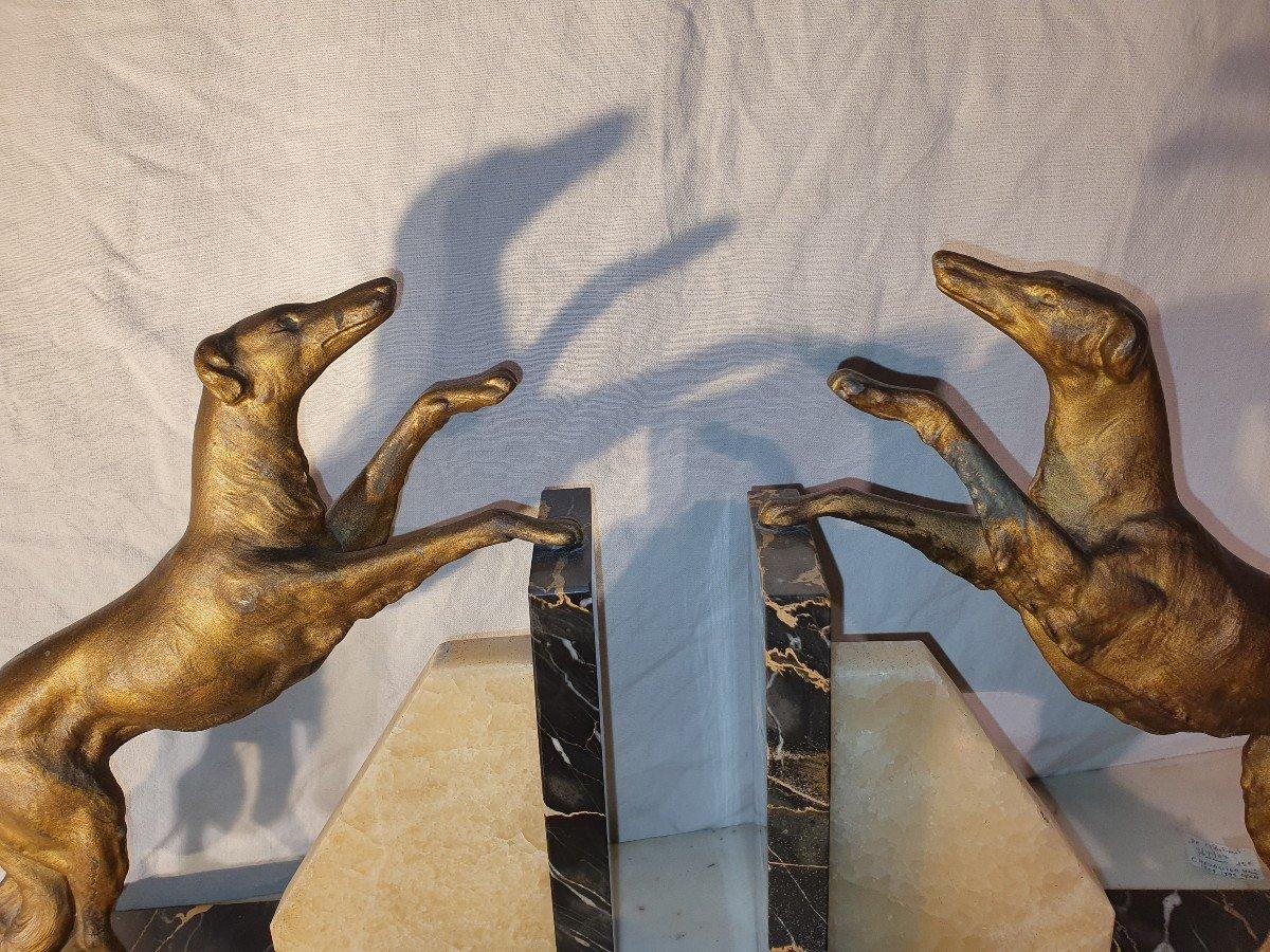 Sculpture Art Déco Lévriers -photo-2