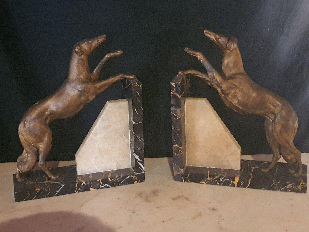 Sculpture Art Déco Lévriers