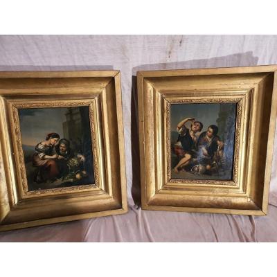 Pair Of Paintings For Gildren