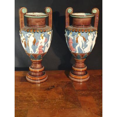 Paire de vases antiques Milton Wechwood.