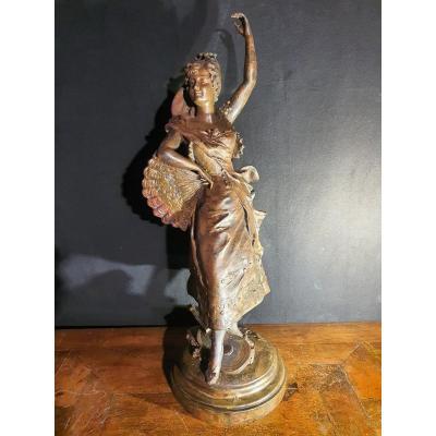 Bronze XIX,danseuse,Carmen par A Collé.