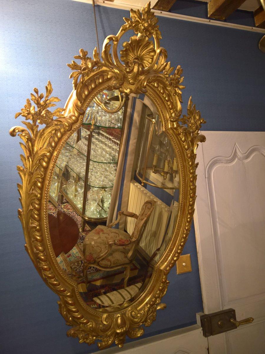 Miroir Ovale d'Epoque Napoleon III