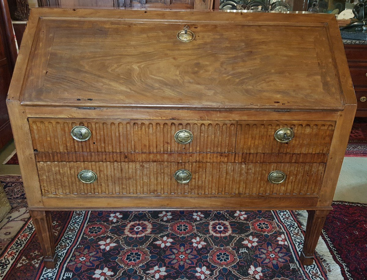 Scribanne Commode In Mahogany From Late Eighteenth Century.-photo-3
