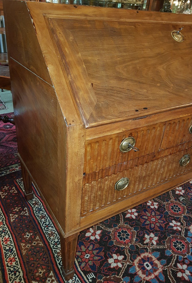 Scribanne Commode In Mahogany From Late Eighteenth Century.-photo-4