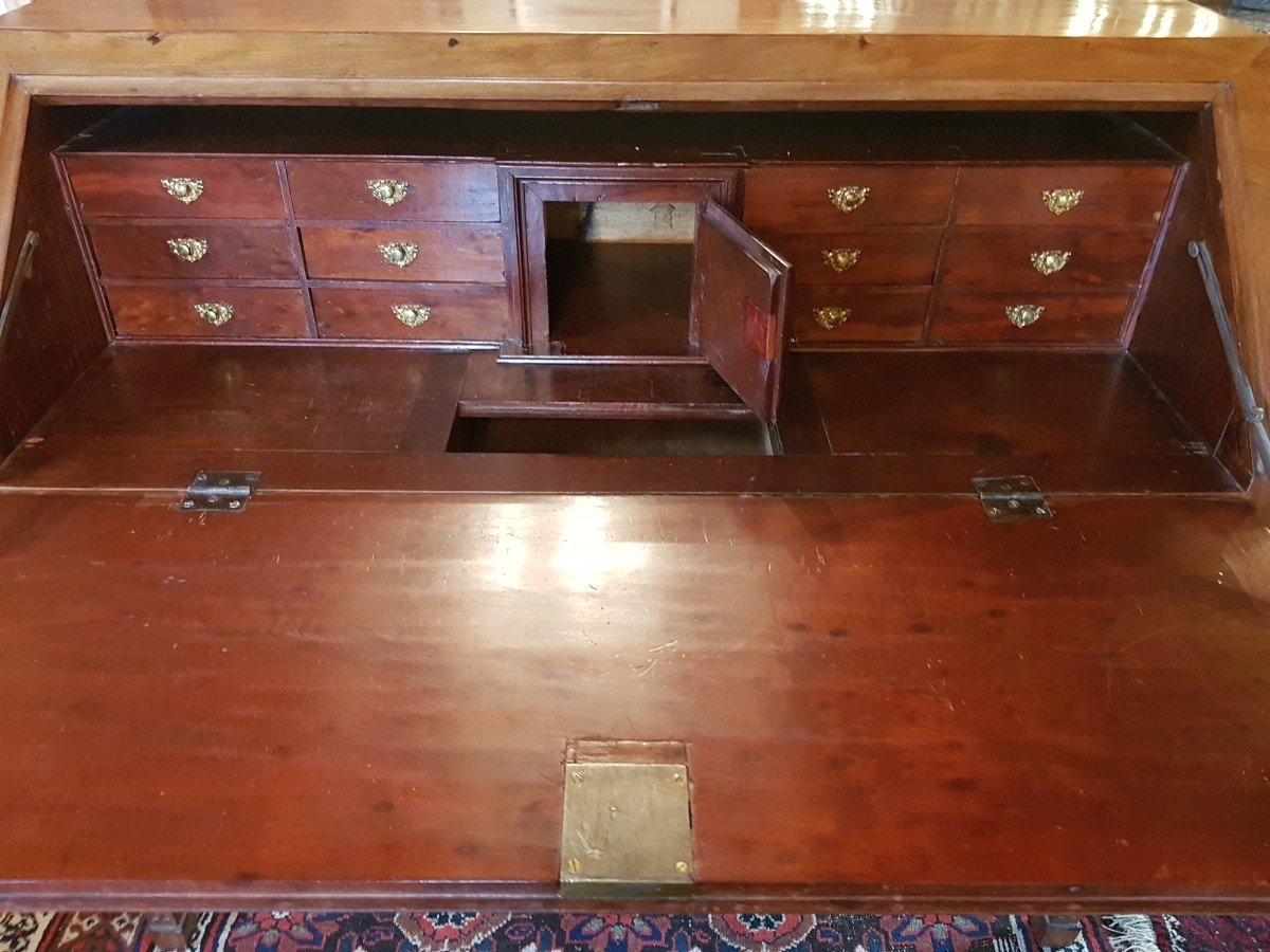 Scribanne Commode In Mahogany From Late Eighteenth Century.-photo-2