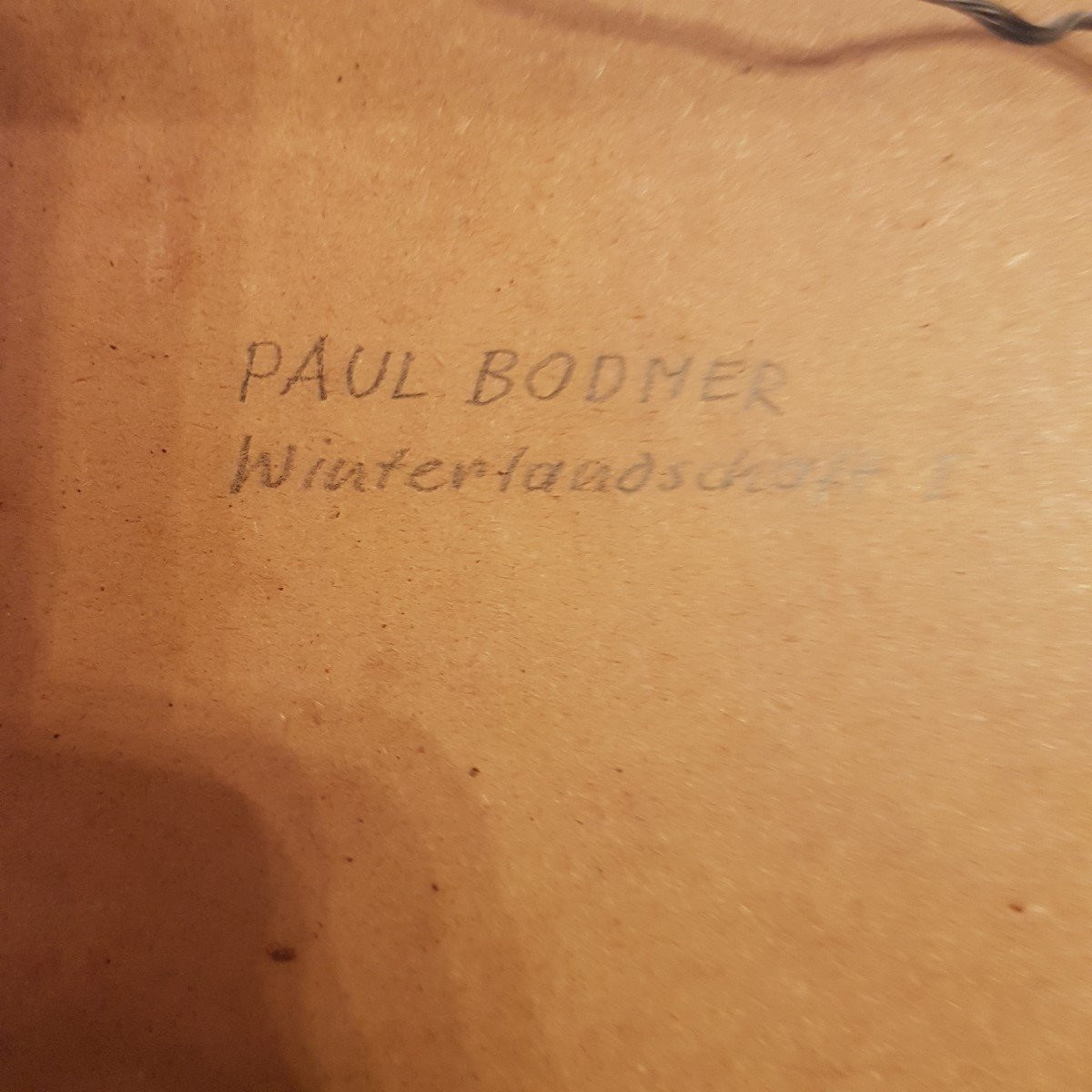 Paul Bodmer : Paysage D'hiver.-photo-1