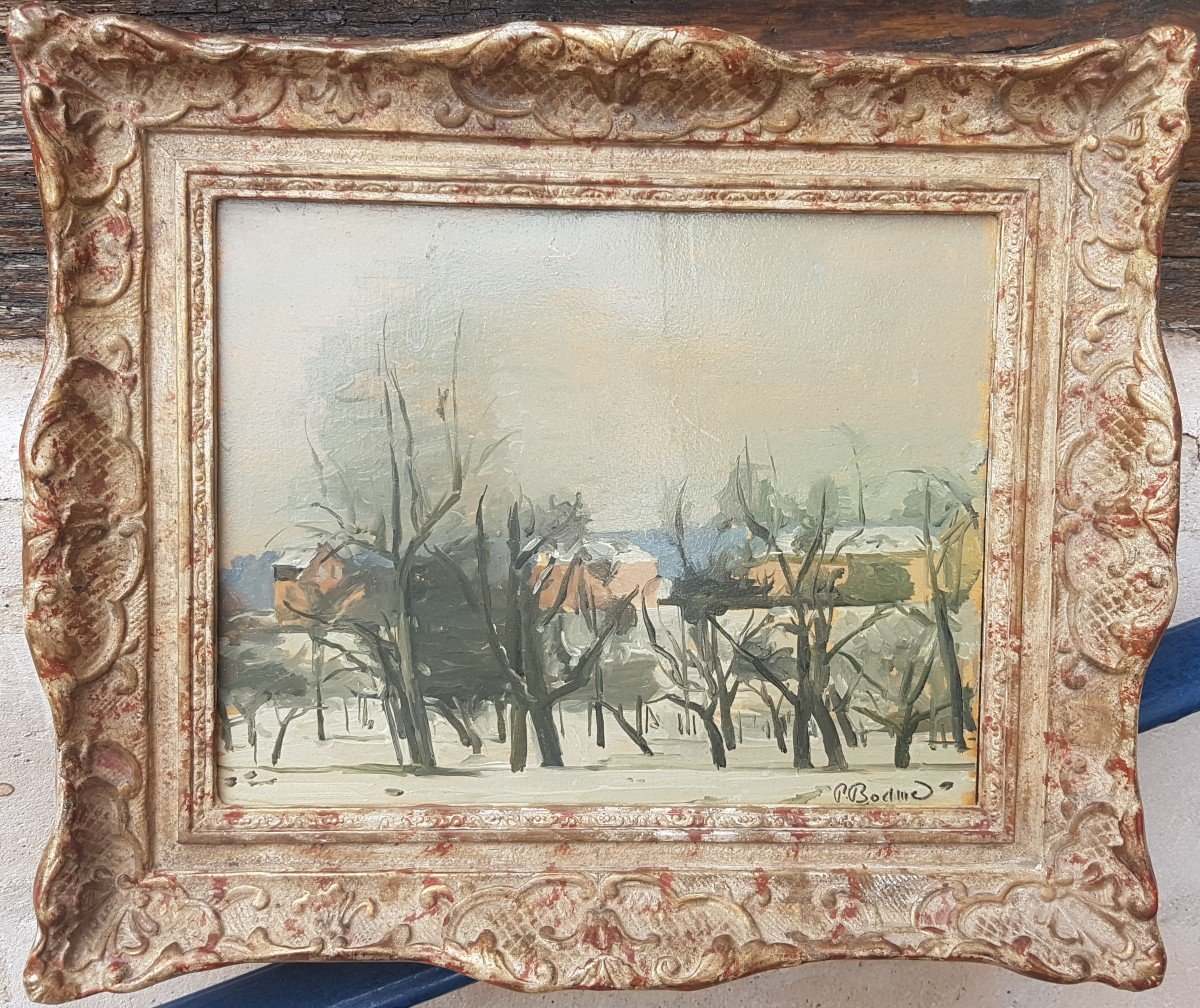 Paul Bodmer : Paysage D'hiver.