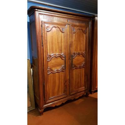 Cabinet Walnut Regency Style Of The Nineteenth Century.