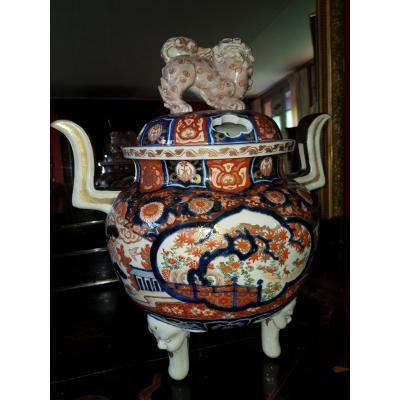 Pot -pourri à Décor  Imari En Porcelaine Du Japon Fin XIX ° Siecle.