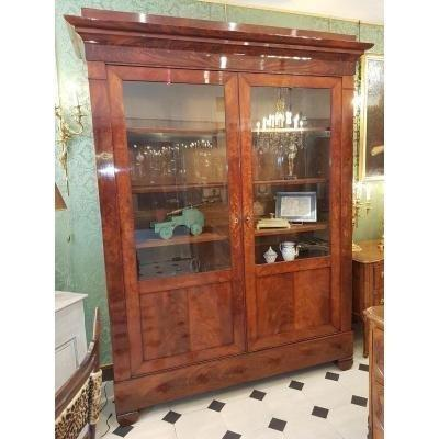 Large Bookcase  Mahogany Restoration Period.