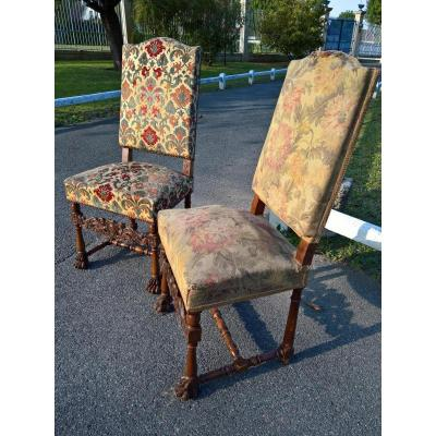 Pair Of Louis XIII Style Chairs
