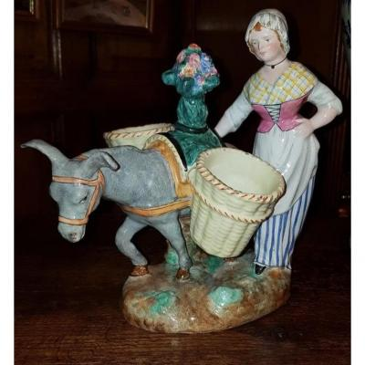 Subject In Polychrome Faience Signed Emile Gallé Nancy.