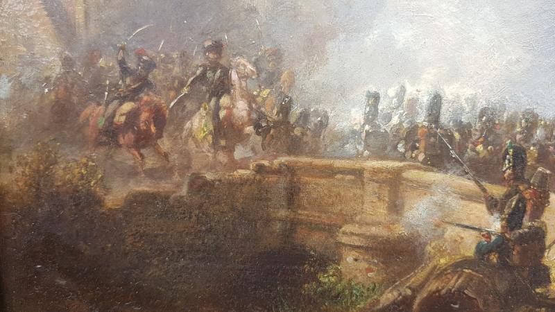 Alois Bach : Troupes Bavaroises Combattant Auprès d' Un Pont.-photo-4