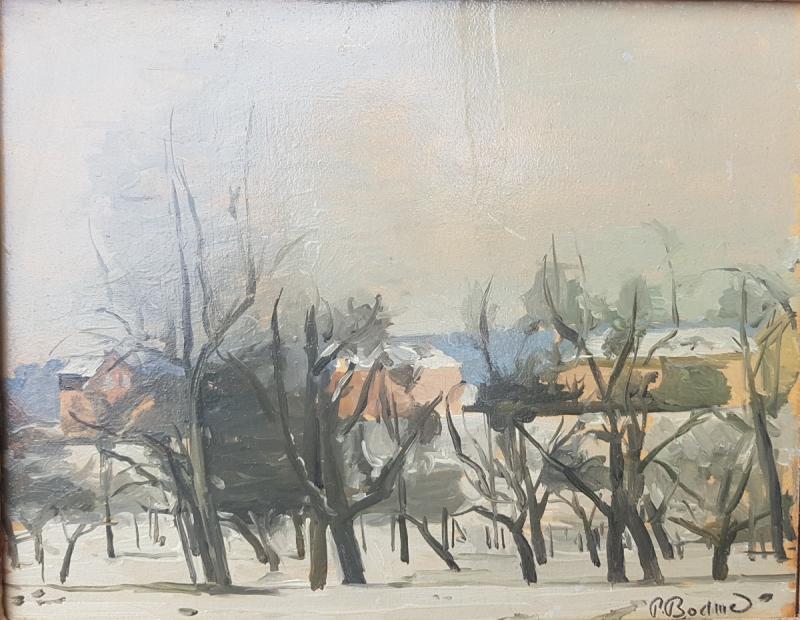 Paul Bodmer : Paysage D'hiver.-photo-2