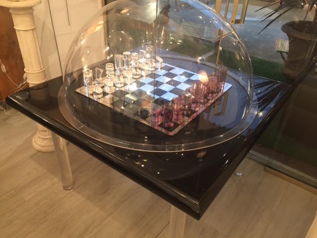 Rare Table à Jeux De Michel Dumas 1970