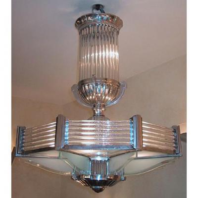Lustre  Art Deco Octogonal Petitot
