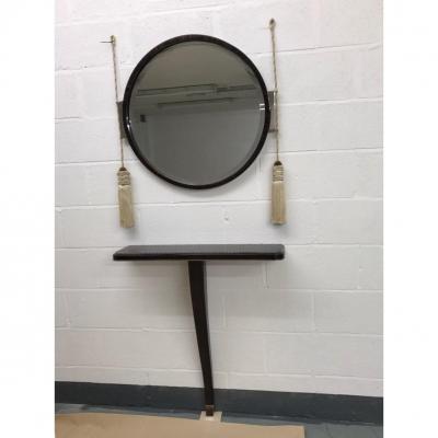 Console En Ebene De Macassar Et Son Miroir