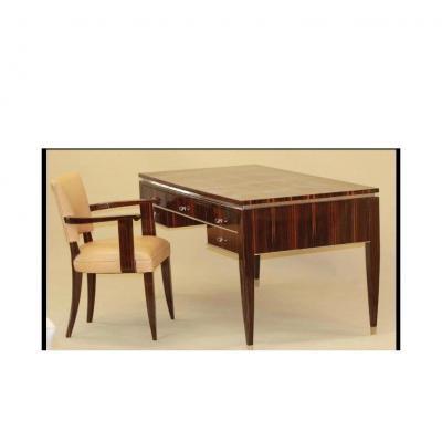 Art Deco Desk In Rosewood Rio