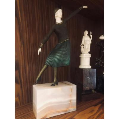 Sculpture Charleston By Chiparus;