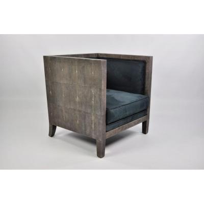 Two Cubic Chairs In Shagreen