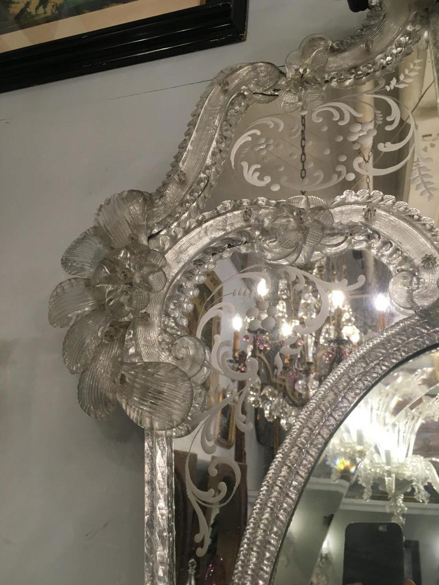 Miroir Venise Murano Début XXème-photo-2