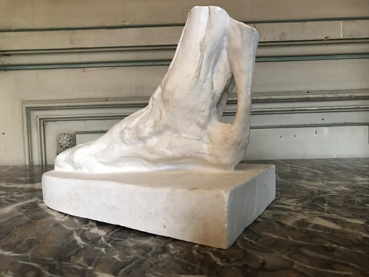Pied D'écorché En Plâtre