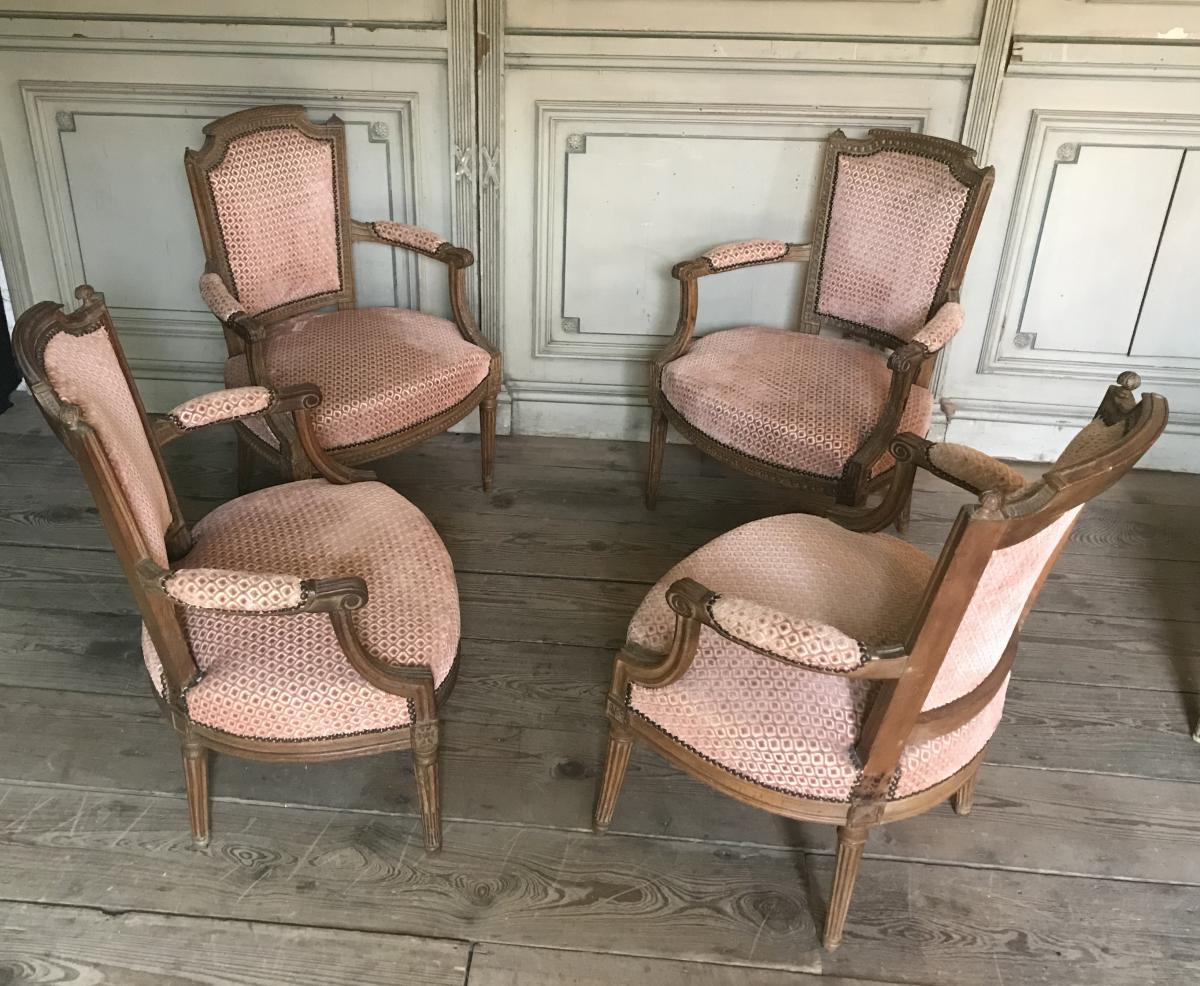 False Suite Of Four Cabriolets Of Louis XVI Period