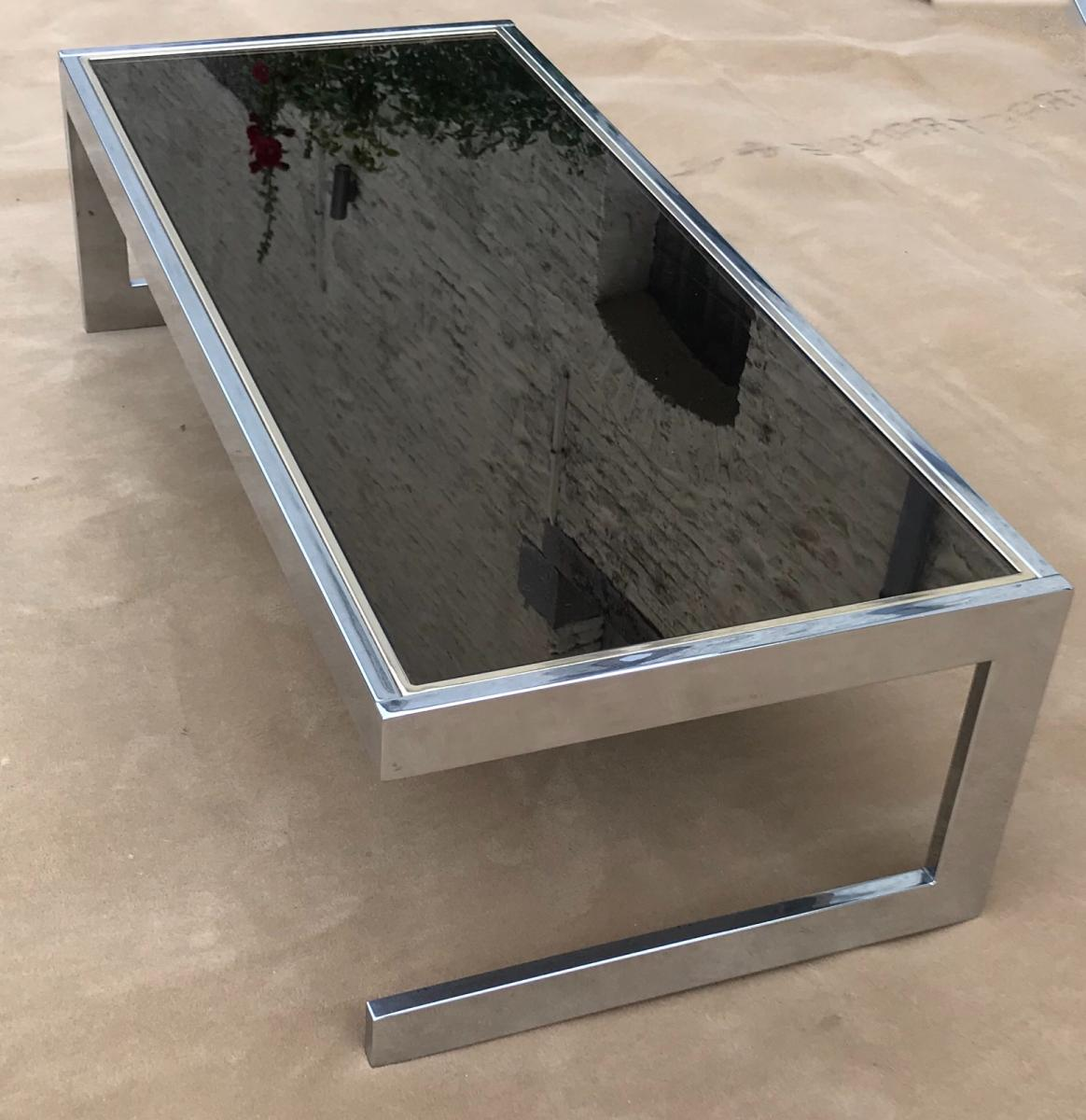 Willy Rizzo Coffee Table.Coffee Table In Willy Rizzo Style Low Table