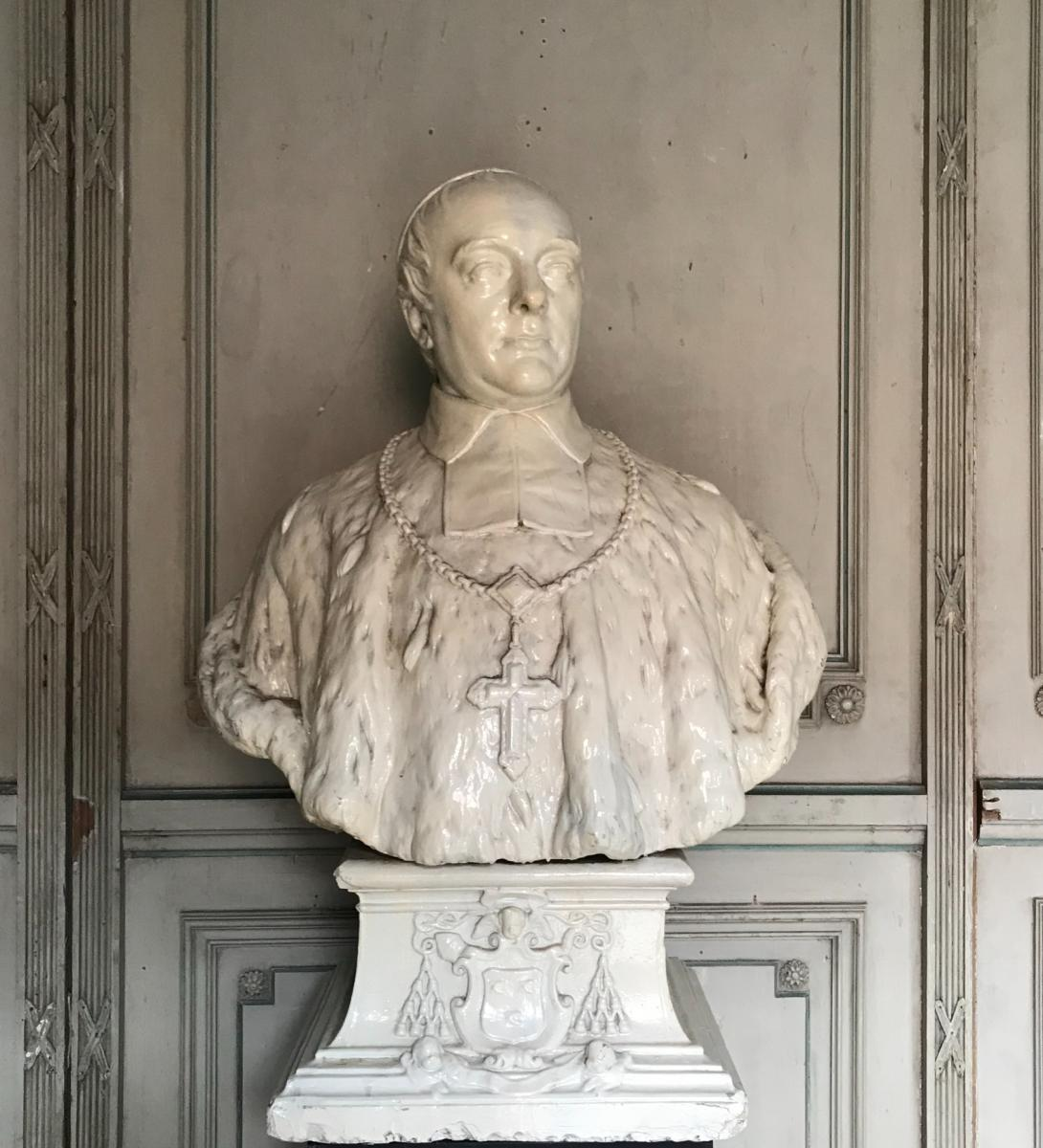 Bust Of A Plaster Prelate