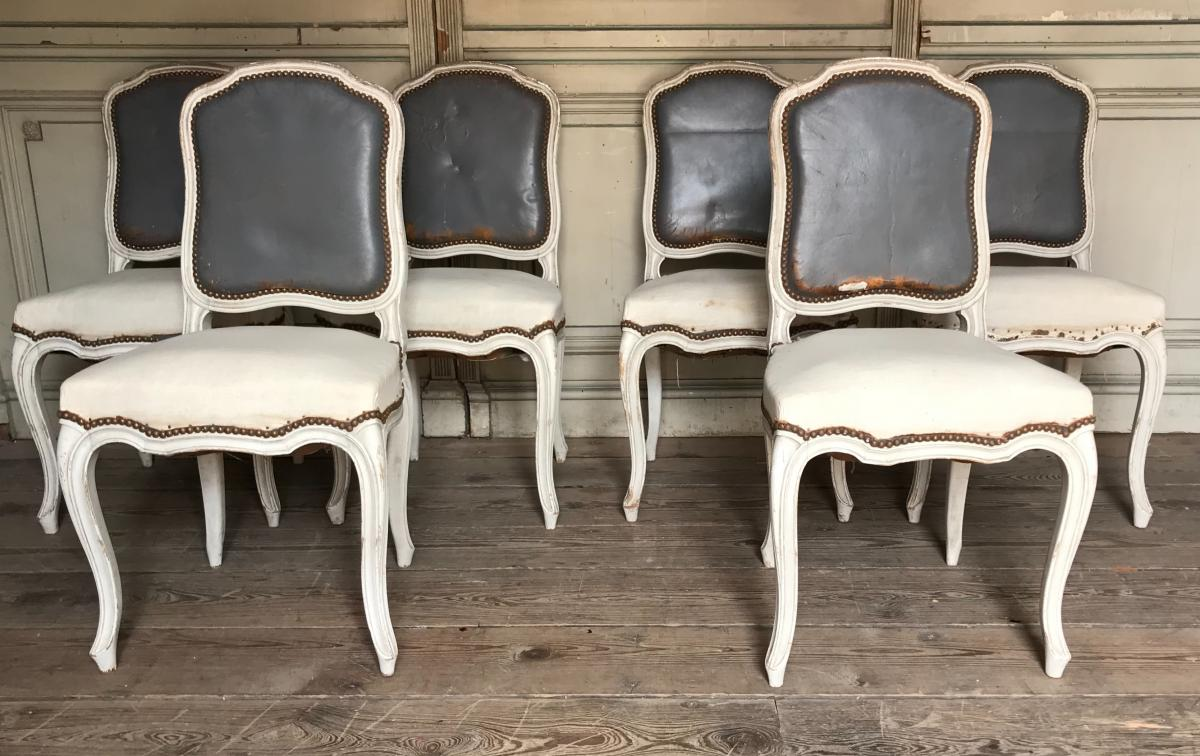 Suite De Six Chaises De Style Louis XV