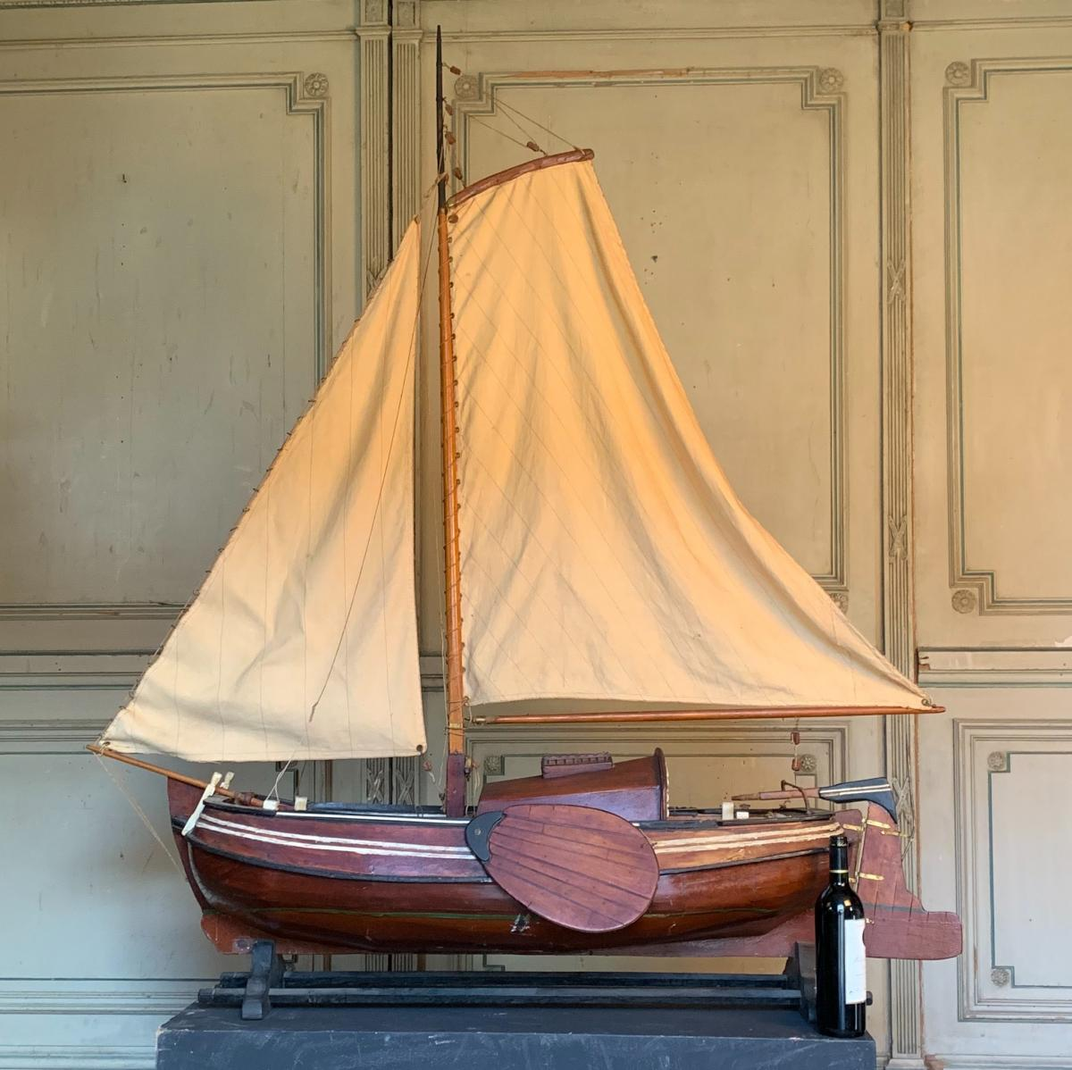 Large Model Sailboat From The North Sea, Boerier